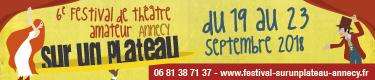 6e festival de théâtre amateur Sur un plateau, Annecy